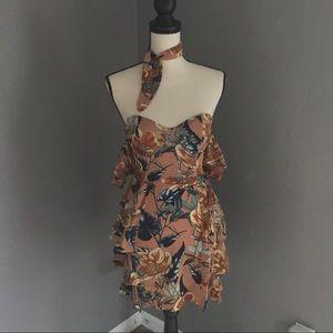 FL&L STRAPLESS FLAMENCO DRESS